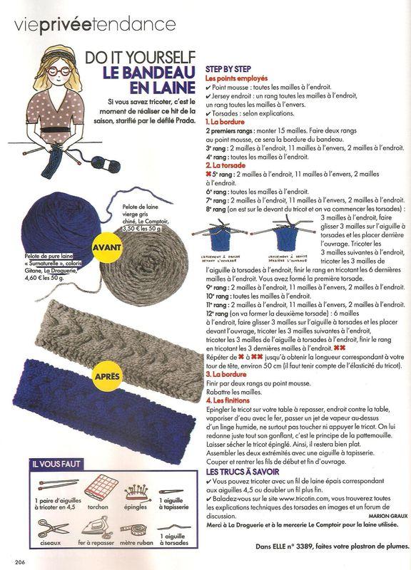 tricoter son bandeau en laine
