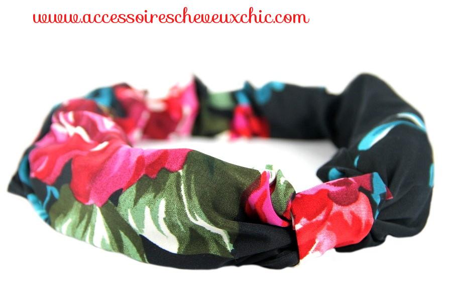 Bandeau cheveux en tissu au motif jungle