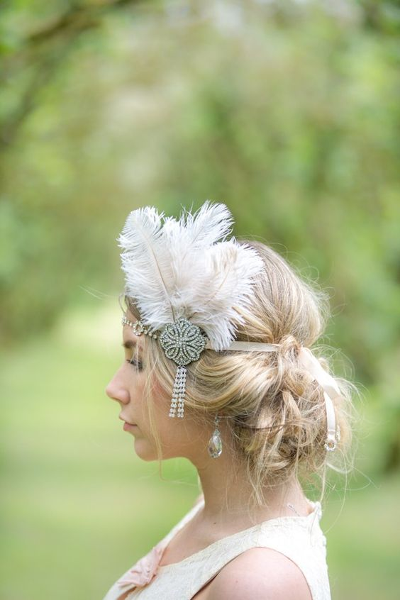 bandeau cheveux pour mariage ou c r monie bandeau cheveux et headband. Black Bedroom Furniture Sets. Home Design Ideas