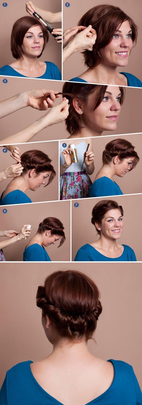 Coiffure a faire avec cheveux court